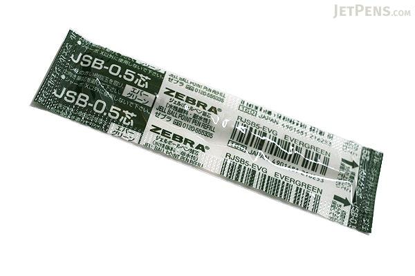 Zebra JSB-0.5 Gel Ink Pen Refill - D1 - 0.5 mm - Evergreen - ZEBRA RJSB5-EVG