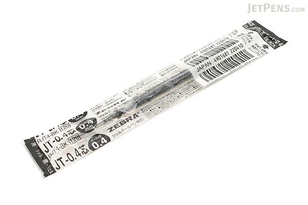 Zebra JT-0.4 Sarasa Gel Pen Refill - 0.4 mm - Black - ZEBRA RJT4-BK