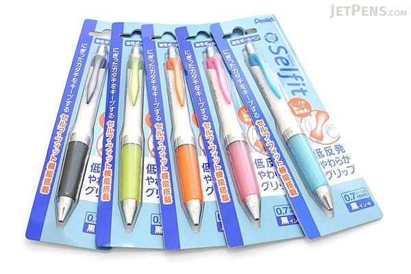Pentel Selfit Ballpoint Pen - 0.7 mm - Sky Blue Grip - PENTEL XBR607S