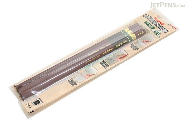 Uni Penmanship Writing Pencil - Triangular Body - 6B - Pack of 3 - UNI UKS3K3P6B