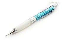 Uni Alpha Gel HD Shaka Shaker Mechanical Pencil - 0.5 mm - Chrome Light Blue Body - White Grip - UNI M5618GG1PC.8