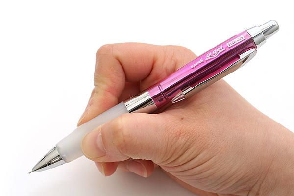 Uni Alpha Gel HD Shaka Shaker Mechanical Pencil - 0.5 mm - Chrome Pink Body - White Grip - UNI M5618GG1PC.13