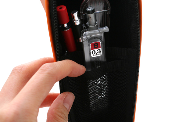 Kokuyo Will Stationery Actic Pencil Case - Orange - KOKUYO F-WBF115YR