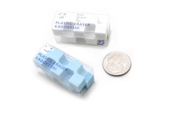 Kokuyo Kadokeshi 28-Corner Eraser - Small - Pack of 2 - Blue and White - KOKUYO KESHI-U750-1