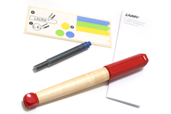Lamy ABC Fountain Pen - Red Grip - LAMY L10M