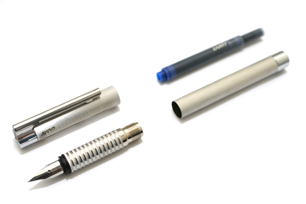 Lamy Logo Brush Finish Fountain Pen - Fine Nib - LAMY L06F