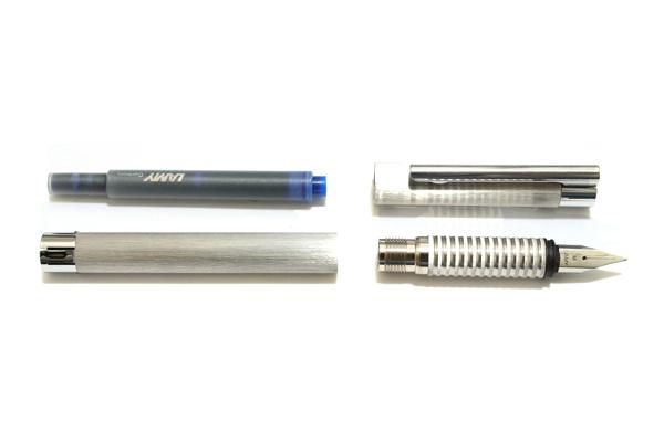 Lamy Logo Brush Finish Fountain Pen - Medium Nib - LAMY L06M