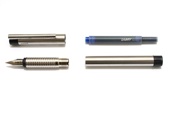 Lamy Logo Cyclical Matte Finish Fountain Pen with Black Trim - Medium Nib - LAMY L05M