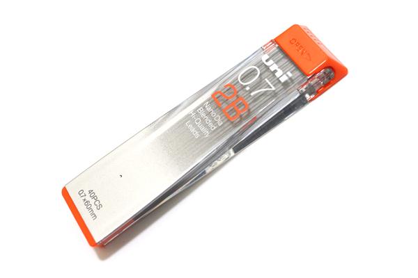 Uni NanoDia Low-Wear Pencil Lead - 0.7 mm - 2B - UNI U07202ND2B