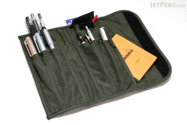 Nomadic PE-10 Tri-Fold Pencil Case - Khaki Green - NOMADIC EPE 10 KHAKI