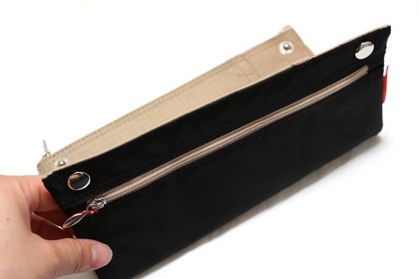 Nomadic PN-04 Snap Button Pencil Case - Black - NOMADIC EPN 04 BLACK