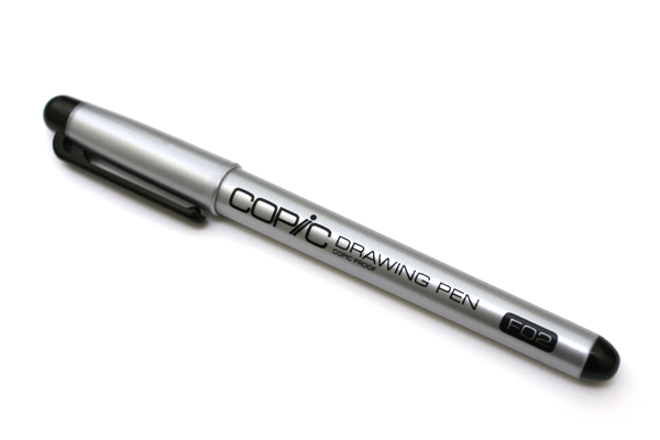 Copic Comic Drawing Pen with Waterproof Ink - 0.2 mm - Black - COPIC F02DP