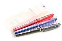 Pilot FriXion Point 04 Gel Pen - 0.4 mm - 3 Color Set - PILOT LF-66P4-3C
