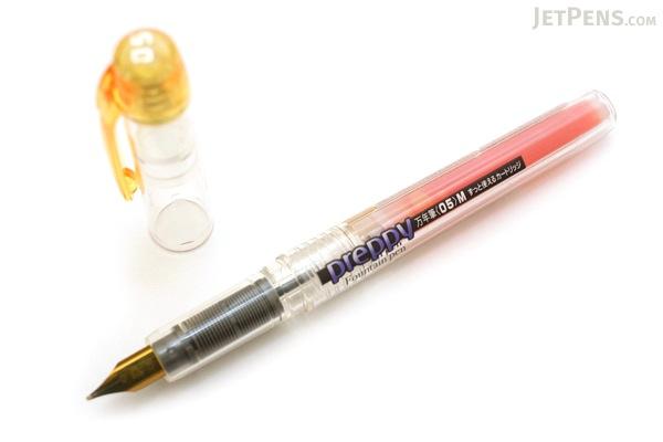Platinum Preppy Fountain Pen Eco - 05 Medium Nib - Yellow - PLATINUM PPQ-200 30 05O