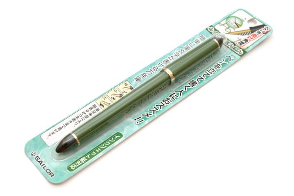 Sailor DE Brush Stroke Style Calligraphy Fountain Pen - Bamboo Green - Nib Angle 55 Degrees - SAILOR 11-0127-767