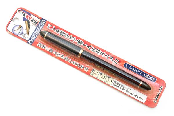 Sailor DE Brush Stroke Style Calligraphy Fountain Pen - Navy Blue - Nib Angle 40 Degrees - SAILOR 11-0127-740