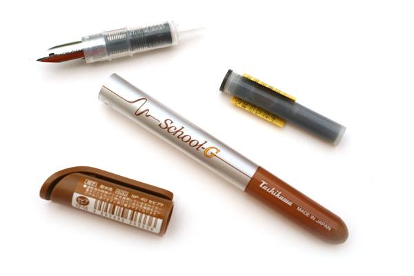 Tachikawa Comic Nib Fountain Pen - G Model Nib - Fine - Sepia Ink - TACHIKAWA NP-40ASE-F