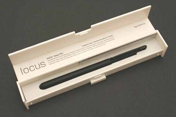 Metaphys Locus 3Way 1 Color 0.5 mm Ballpoint Multi Pen + 0.5 mm Pencil + Eraser - Black Body - METAPHYS 43010-BK