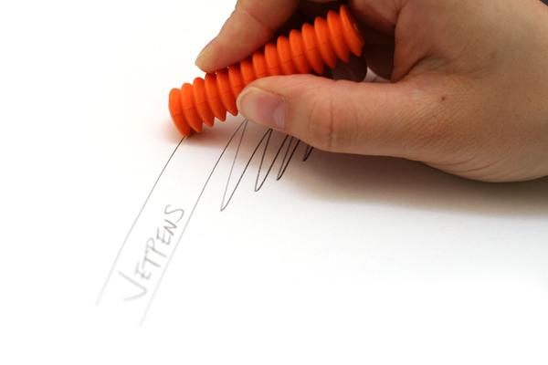 Metaphys Viss Spiral Eraser - Orange - METAPHYS 44050-OR