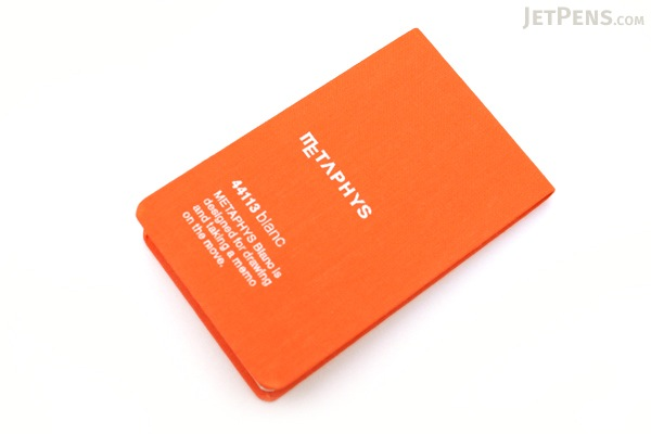 "Metaphys Blanc Fabric Cover Memo Pad - 2.6"" X 4.1"" - Orange - METAPHYS 44113-OR"