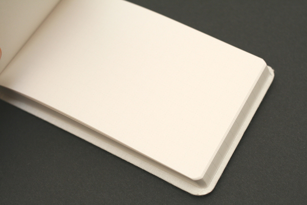 "Metaphys Blanc Fabric Cover Memo Pad - 2.6"" X 4.1"" - White - METAPHYS 44113-WH"