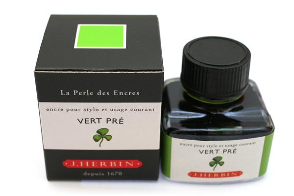 J. Herbin Fountain Pen Ink - 30 ml Bottle - Vert Pré (Meadow Green) - J. HERBIN H130/31
