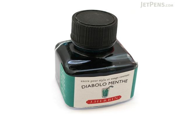 J. Herbin Diabolo Menthe Ink (Peppermint Soda Green) - 30 ml Bottle - J. HERBIN H130/33