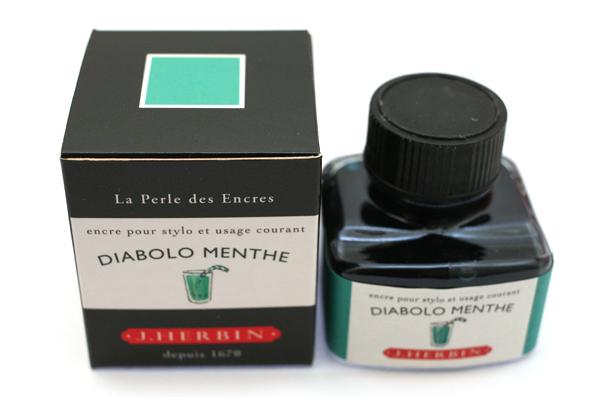 J. Herbin Fountain Pen Ink - 30 ml Bottle - Diabolo Menthe (Peppermint Soda Green) - J. HERBIN H130/33