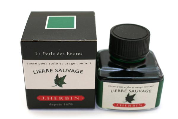 J. Herbin Fountain Pen Ink - 30 ml Bottle - Lierre Sauvage (Wild Ivy Green) - J. HERBIN H130/37