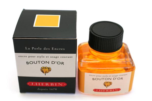 J. Herbin Fountain Pen Ink - 30 ml Bottle - Bouton d'Or (Buttercup Yellow) - J. HERBIN H130/53