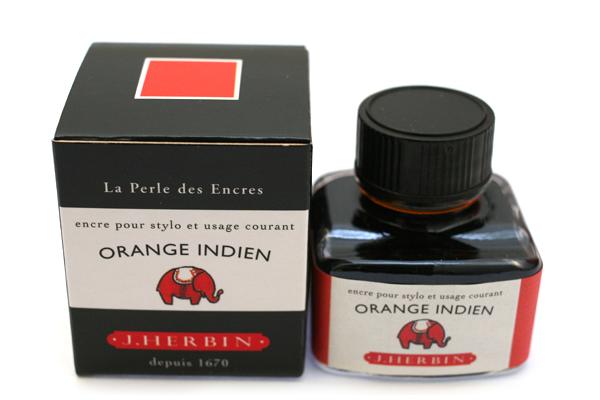 J. Herbin Fountain Pen Ink - 30 ml Bottle - Orange Indien (Indian Orange) - J. HERBIN H130/57