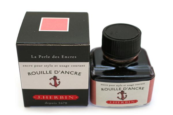 J. Herbin Fountain Pen Ink - 30 ml Bottle - Rouille d'Ancre (Rusty Anchor Red) - J. HERBIN H130/58