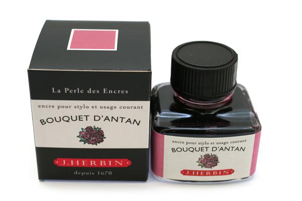 J. Herbin Fountain Pen Ink - 30 ml Bottle - Bouquet d'Antan (Bouquet of Yesteryear Pink) - J. HERBIN H130/64