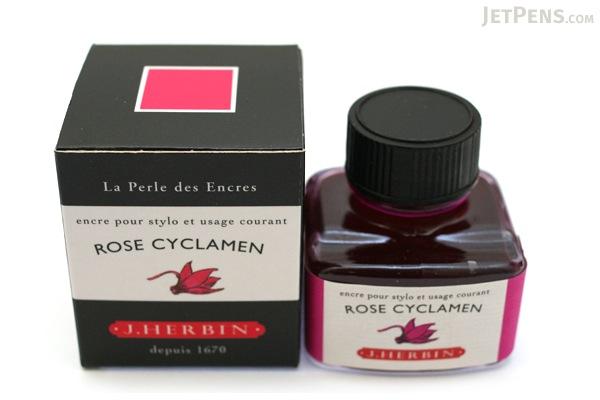 J. Herbin Rose Cyclamen Ink (Cyclamen Pink) - 30 ml Bottle - J. HERBIN H130/66