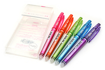 Pilot FriXion Point 04 Gel Pen - 0.4 mm - 5 Color Set - PILOT LF-110P4-5C