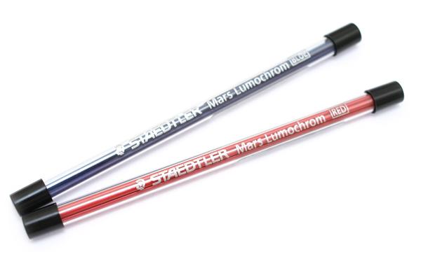 Staedtler Mars Lumochrom Lead Holder Refill - 2 mm - Red - Pack of 4 - STAEDTLER 204 E4-2
