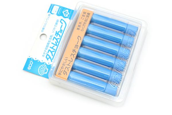 Rikagaku Dustless Chalk - Blue  - Pack of 6 - RIKAGAKU DCC-6-BU
