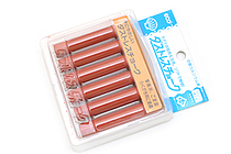 Rikagaku Dustless Chalk - Brown  - Pack of 6 - RIKAGAKU DCC-6-BR