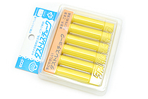 Rikagaku Dustless Chalk - Yellow  - Pack of 6 - RIKAGAKU DCC-6-Y