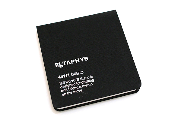 "Metaphys Blanc Fabric Cover Memo Pad - 3.1"" X 3.1"" - Black - METAPHYS 44111-BK"
