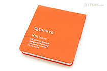 "Metaphys Blanc Fabric Cover Memo Pad - 3.1"" X 3.1"" - Orange - METAPHYS 44111-OR"