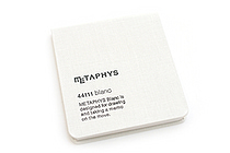 "Metaphys Blanc Fabric Cover Memo Pad - 3.1"" X 3.1"" - White - METAPHYS 44111-WH"