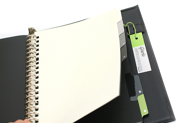 Maruman Giuris Cover File Folder - A5 - 20 Rings - Black - MARUMAN F289A-05
