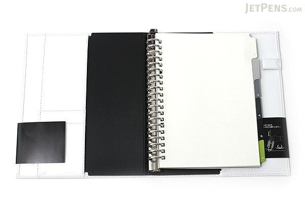 Maruman Giuris Cover File Folder - A5 - 20 Rings - White - MARUMAN F289A-06