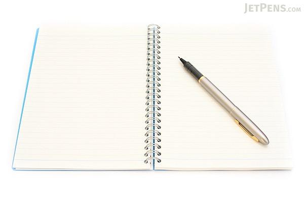 Maruman Sept Couleur Notebook - A5 - 7 mm Rule - 26 Lines - 80 Sheets - Blue - Bundle of 5 - MARUMAN N572-02 BUNDLE