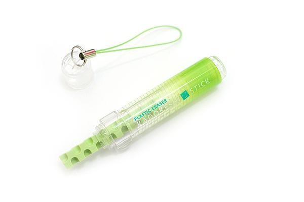 Kokuyo KadoKeshi Stick Mini Twist Eraser - Lime Green - KOKUYO KESHI-HU600LG