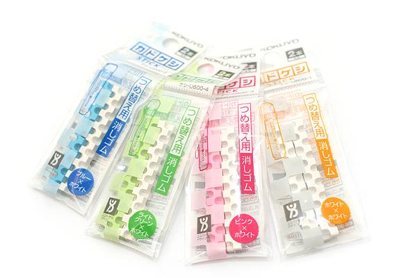 Kokuyo KadoKeshi Stick Mini Twist Eraser Refill - White - KOKUYO KESHI-U600-1