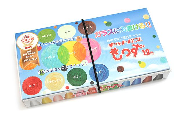 Rikagaku Kitpas Kids Wet-Erase Crayon - 12 Color Set - RIKAGAKU KKD-12C