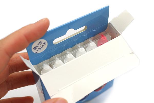Rikagaku Kitpas Wet-Erase Crayon - Pack of 6 - 5 White + 1 Red - RIKAGAKU KKD-6-2C