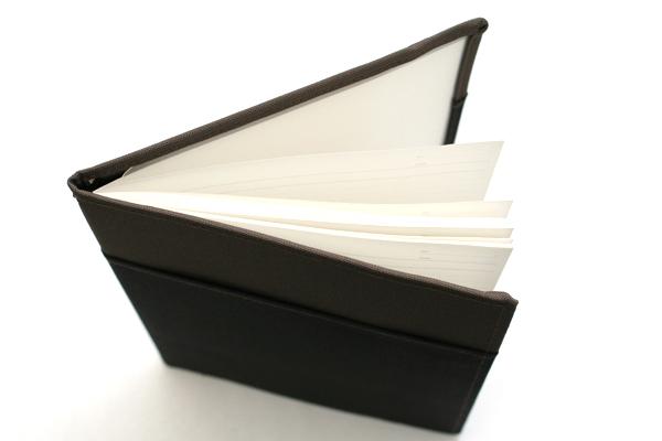 Kokuyo Systemic Refillable Notebook Cover - Semi B5 - Normal Rule - Gray/Black - KOKUYO NO-653A-1